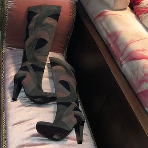 Аldo Suede OTK High Heel Boots Size 37